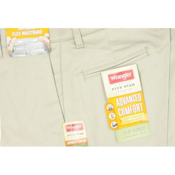 09d1c74c Wrangler - Wrangler Men's Advanced Comfort Flat Front Pants ...