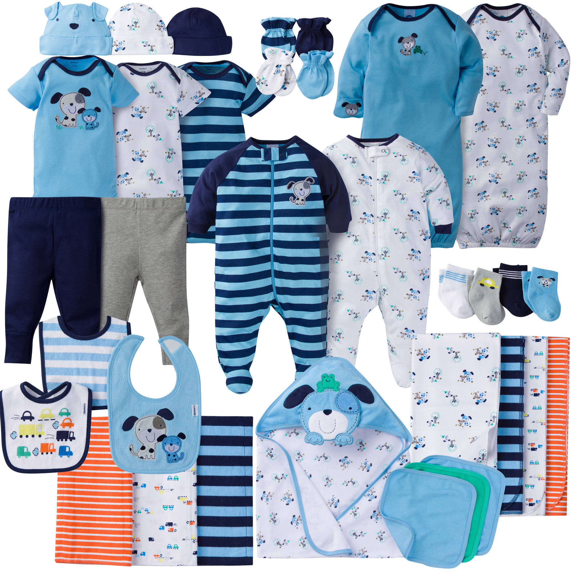 Newborn Baby Boy Perfect Baby Shower Gift Layette Set, 34-Piece