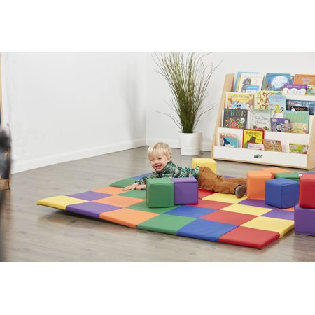 SoftZone® Patchwork Toddler Mat - Primary