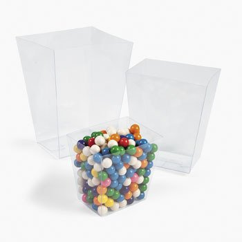 Clear Candy Buckets (pack of - Clear Bucket