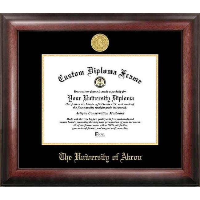 Campus Images OH983GED University of Akron Gold Embossed Diploma Frame
