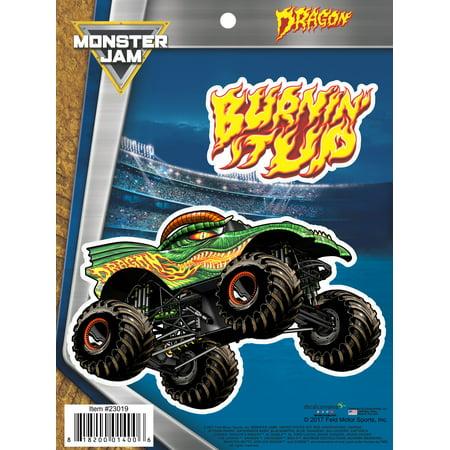 Monster Jam Dragon Truck Decals Car Auto Stickers - Monster Truck Stickers
