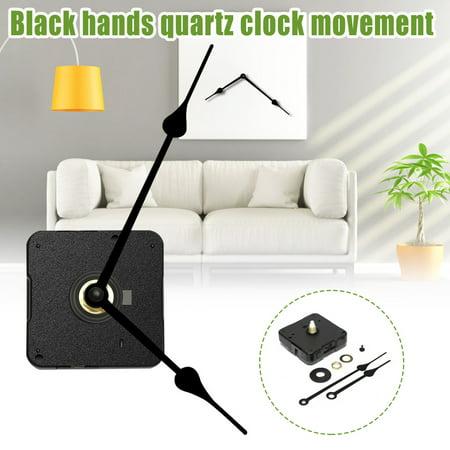 Requires High Torque Movement - Hight Torque Black Hands Quartz Clock Movement Long Spindle Repair Tools Parts DIY Replacement Kit
