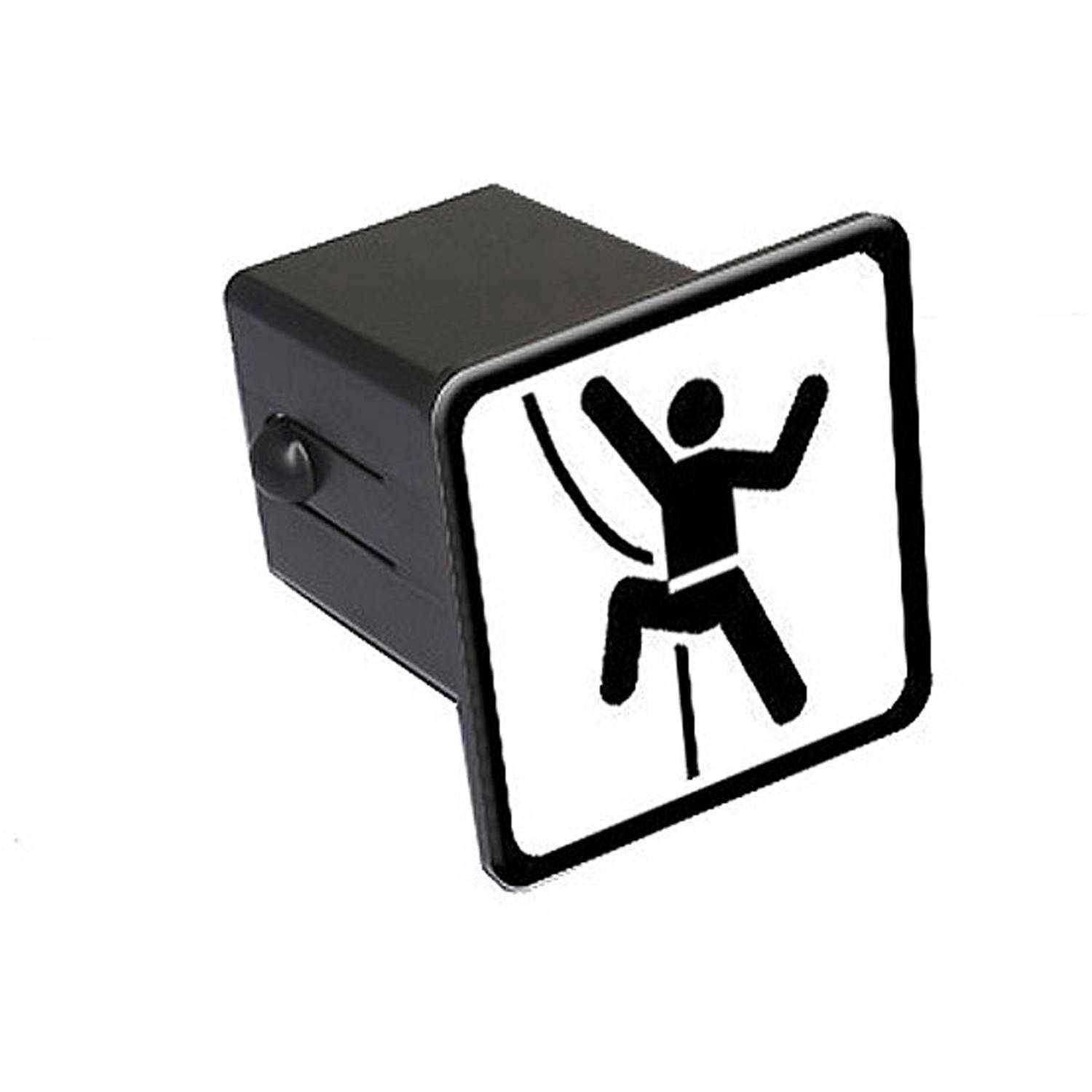 """Rock Mountain Wall Climbing Sign Symbol 2"""" Tow Trailer Hitch Cover Plug Insert"""