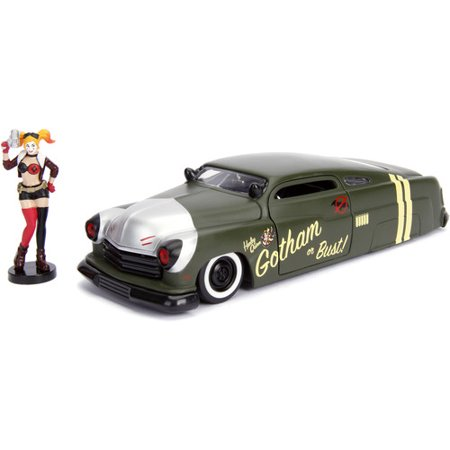 1951 Mercury Matt Green with Harley Quinn Diecast Figure