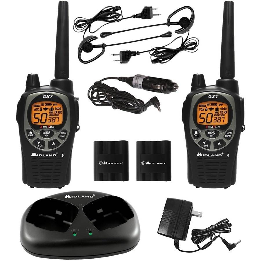 Midland FRS/GMRS 50-Channel 36-Mile Radios, Black