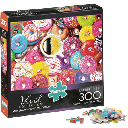 Buffalo⢠Vivid Collection⢠Aimee Stewart's Coffee and Donuts⢠Puzzle 300 pc Box](Online Puzzles For Adults)