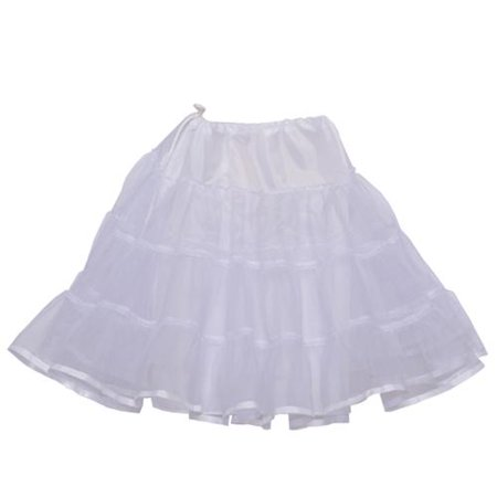 Angels Garment Baby Girls White Ruffle Binding Elastic Vintage Petticoat 12-24M](Toddler Petticoat)