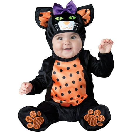 Infant Mini Meow Cat Halloween Costume - Tuxedo Cat Halloween Costume