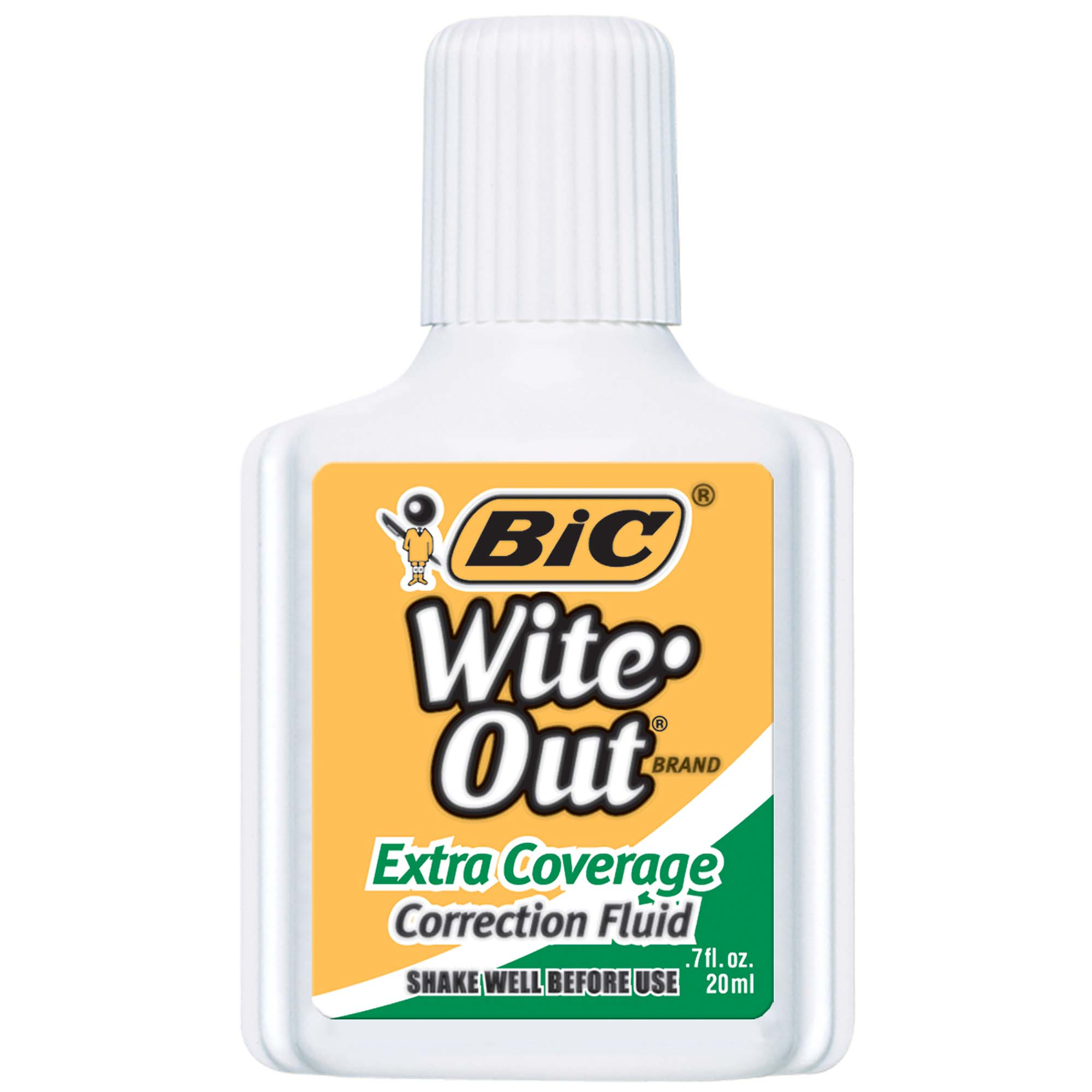 Extra Coverage Correction Fluid 2-Pack Blister White