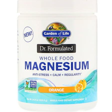 Garden of Life  Dr  Formulated  Whole Food Magnesium Powder  Orange  14 8 oz  419 5