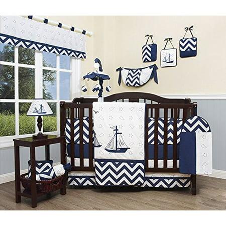 (GEENNY Baby Nautical Explorer 13 Piece Nursery Crib Bedding Set)