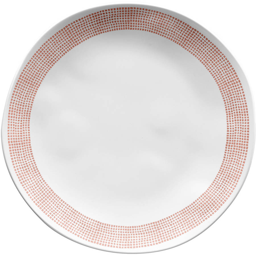 Better Homes & Gardens Microcheck Melamine Dinner Plate, 4-Pack
