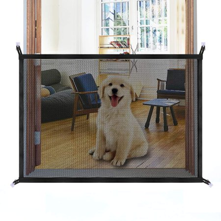 Magic Gate for Dogs, Safety Enclosure Portable Mesh Folding Safe Guard, Baby Safety -