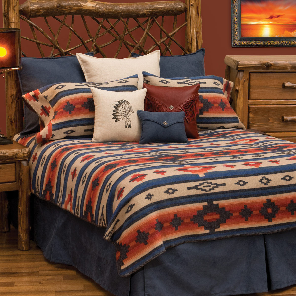 Lone Star Western Decor Redrock Canyon Deluxe Bed Set   Super King