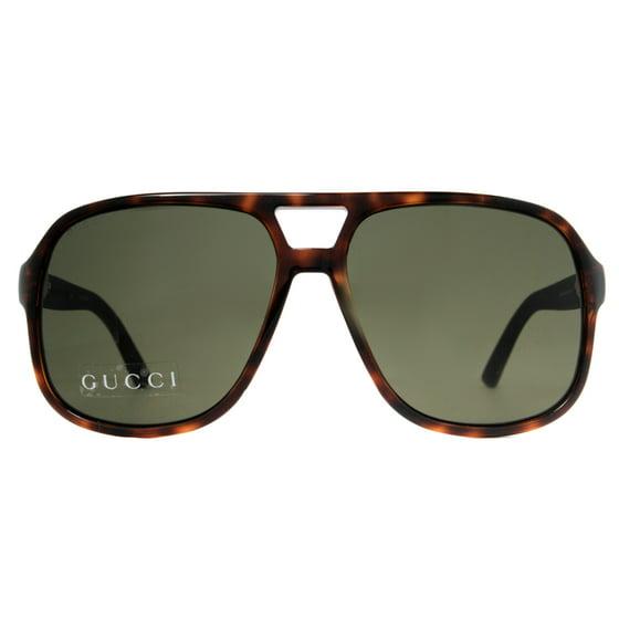 3ce6174cacf15 GUCCI - Gucci GG 1115 S M1W 1E Havana Brown Black Rubber Men s ...