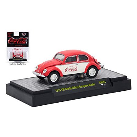 M2 Machines Limited Edition Coca-Cola Series 3-1953 VW Beetle Deluxe European Model RW03