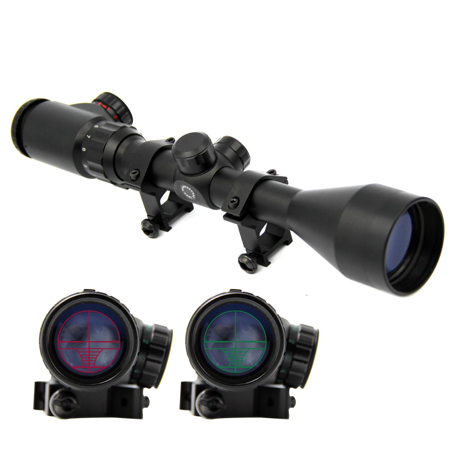 SOLOMONE CAVALLI 3-9X50 E Mil-dot Illuminated Red & Green Hunting Scope Optical Gun for Rifle by SOLOMONE CAVALLI