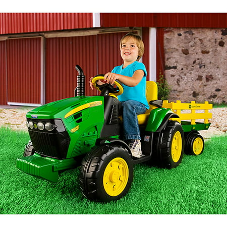 John Deere Ride On Toys >> Details About Tractor Ride On John Deere Ground Force 12v Riding Toys Adjustable Seat Kids