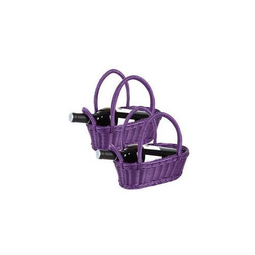 Everware 31324-209 Purple Wine Bottle Basket Pair