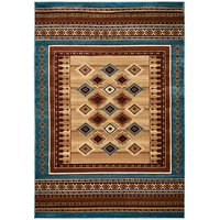 Rizzy Home BV3712 Bellevue Power Loomed Polypropylene Rug