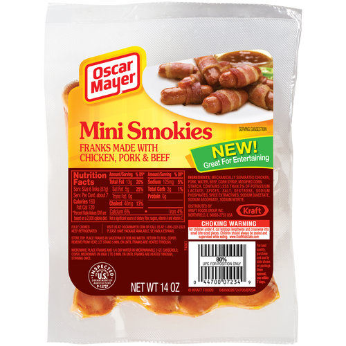 Oscar Mayer Mini Smokies Franks, 14 oz - Walmart.com