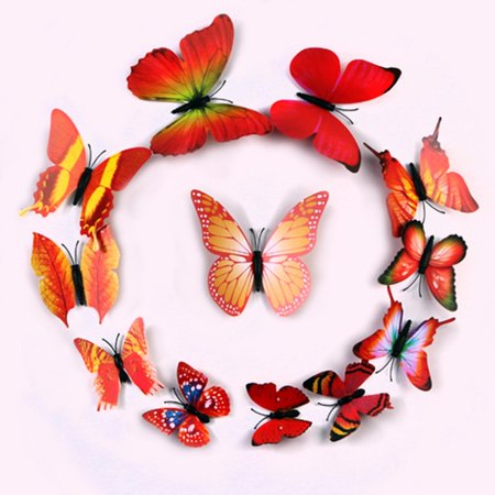 Green Butterfly Nursery Decorations - Efavormart 36 Pack 3D DIY Butterfly Magnet Wall Decoration Stickers