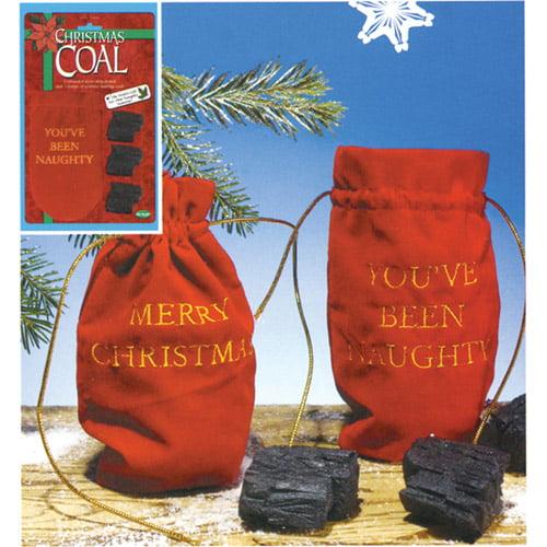 You Are Naughty Bag of Coal Adult Halloween / Christmas Accessory