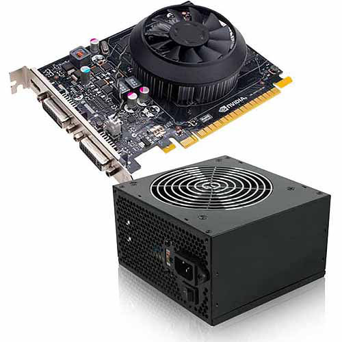 NVIDIA GeForce GT 730 2GB GDDR3 PCI Express 3.0 Graphics Card with 350W Power Supply, Bundle Only