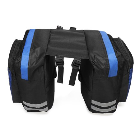 Large Capacity Double Bicycle Pannier Rear Seat Bag , PVC Waterproof Bike Pouch Saddle Bag For Cycling (Best Cycling Saddle Bag)