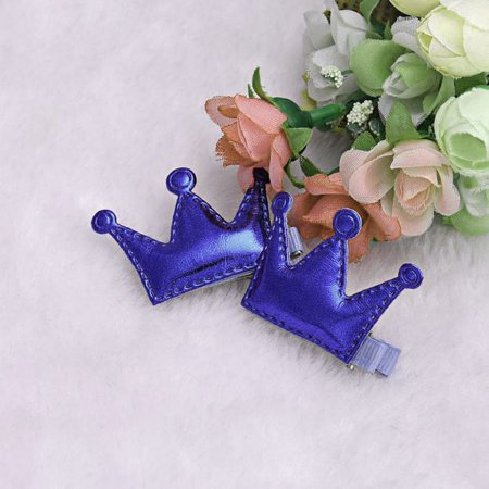 2PCS Hair Clips Girls Christmas Party Princess Leather Hair Style Buckle