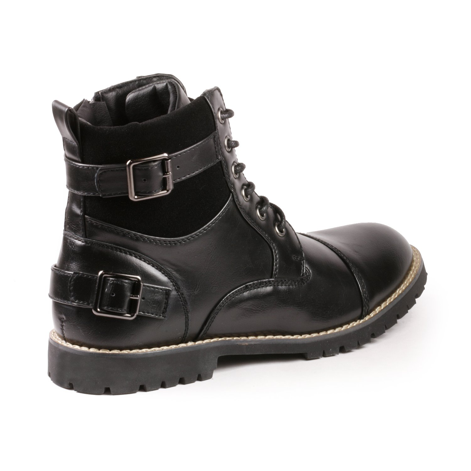 Metrocharm MC306 Mens Casual Work Lace Up Classic Motorcycle Combat Boots