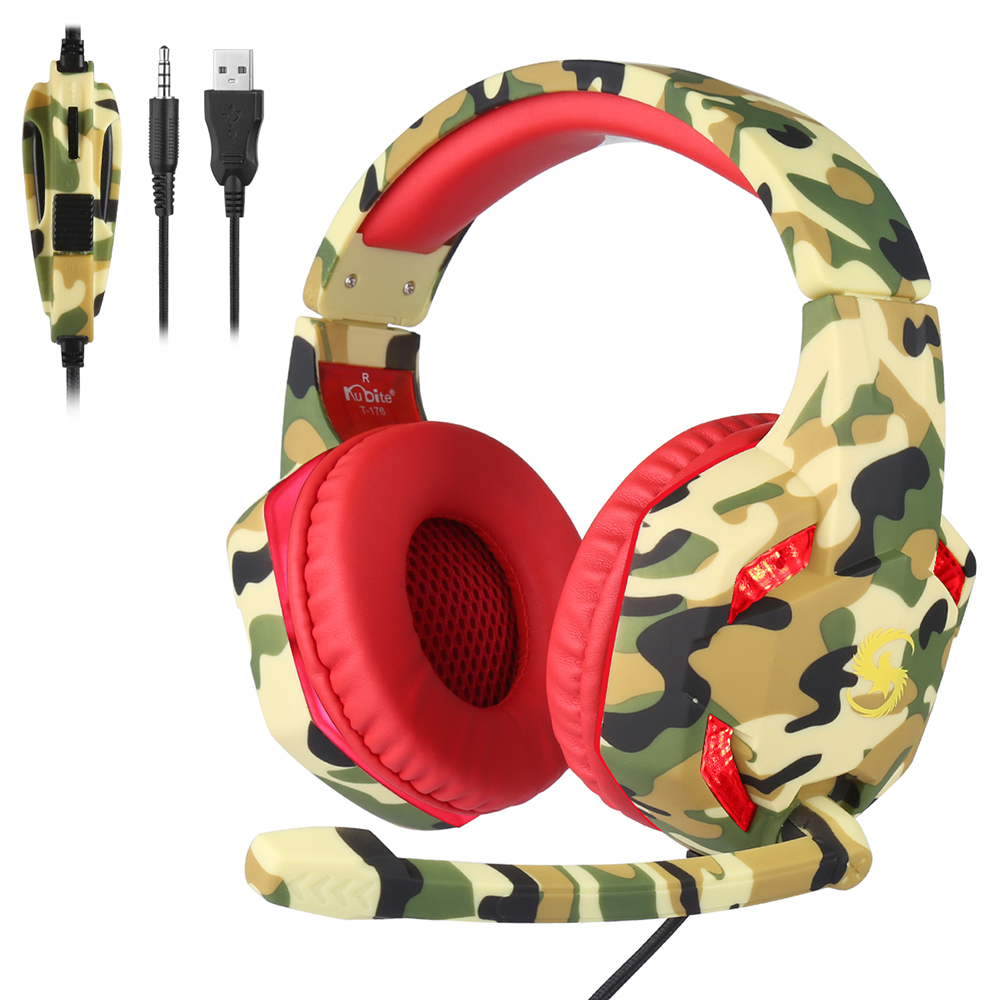 OUYAWEI Eat Chicken Gaming Earphones Stereo PC Bass with Mic Wired Vibration Games Headphoe PUBG Earphones