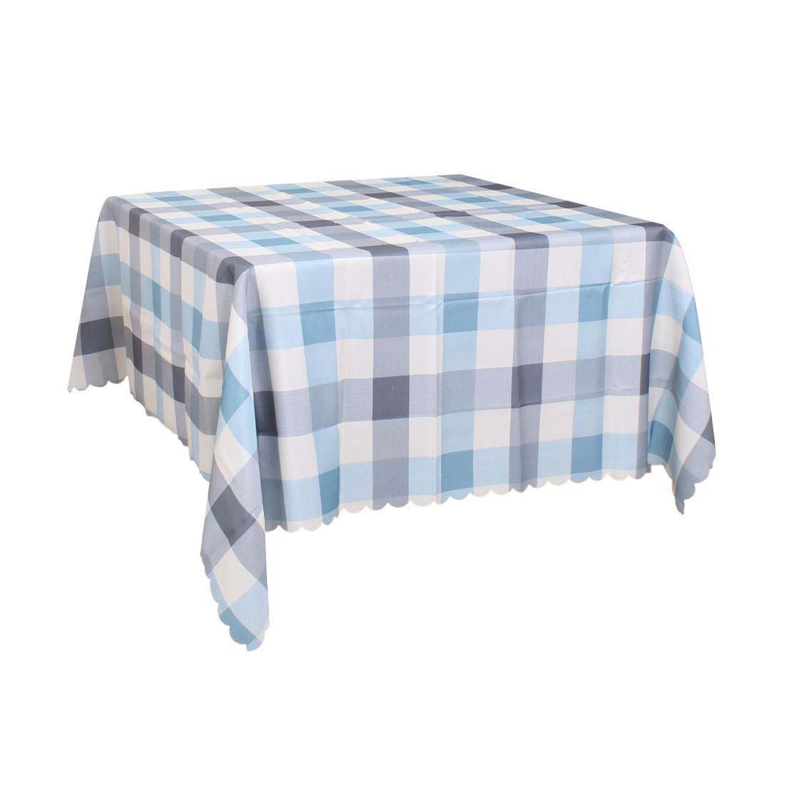"""Plaid Pattern Soft Tablecloths Cotton-linen Table Cover Kitchen for Party Wedding 55"""" x 55"""", #3"""