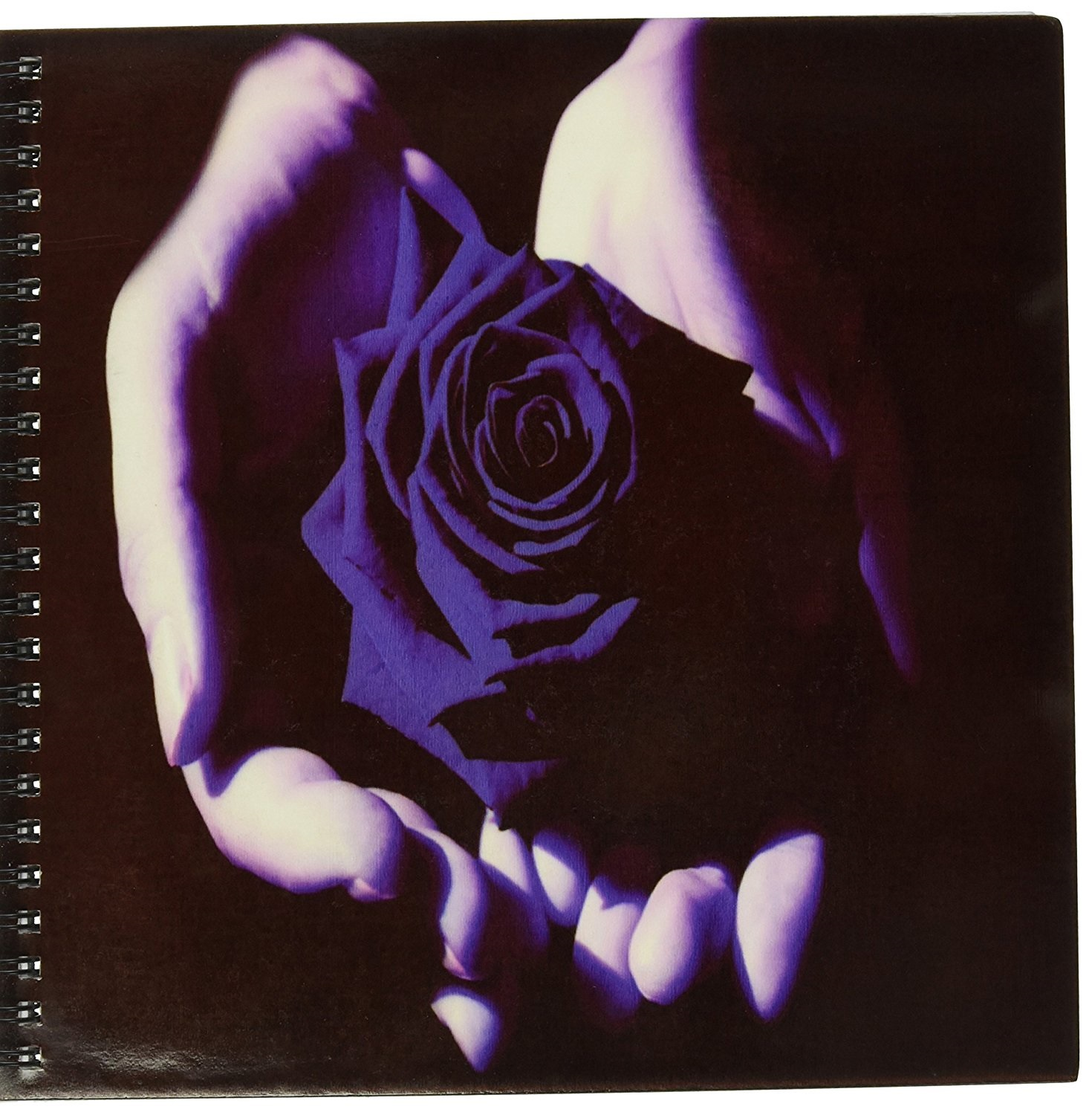 """3dRose 8"""" x 8"""" """"Blue Rose in Palm of Hands"""" Drawing Book 50 Pages"""