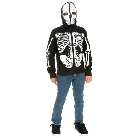 Skeleton Sweatshirt Hoodie Child Costume - Large