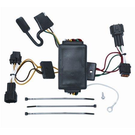 Vehicle To Trailer Wiring Harness Connector For 09-12 Nissan ... on nissan brakes, nissan truck wiring harness, nissan roof rack, nissan back up camera harness, nissan wiring diagrams, nissan alternator wiring, nissan floor mats, nissan engine wiring harness,