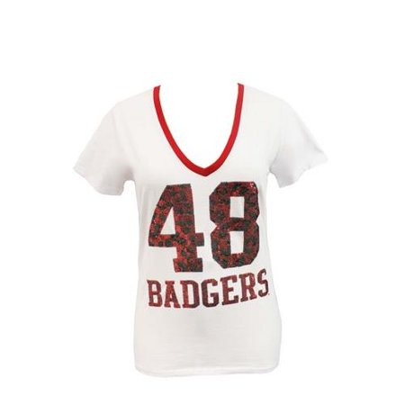 University of Wisconsin Badgers Tee Jungle Theme Spirit Shirt