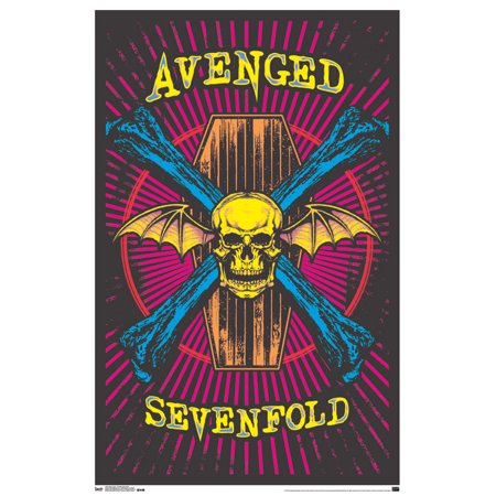 Trends International Avenged Sevenfold Black Light Poster 23