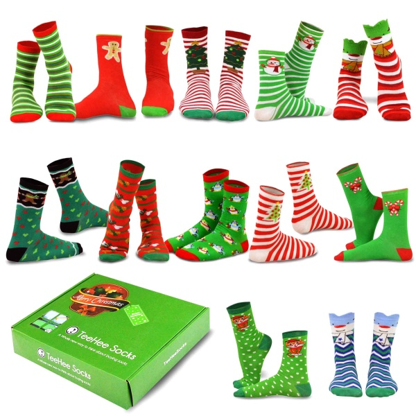 LADIES CHRISTMAS PUDDING SOCKS IN A GIFTBOX **2 PAIRS IN A BOX**  **IDEAL GIFT**