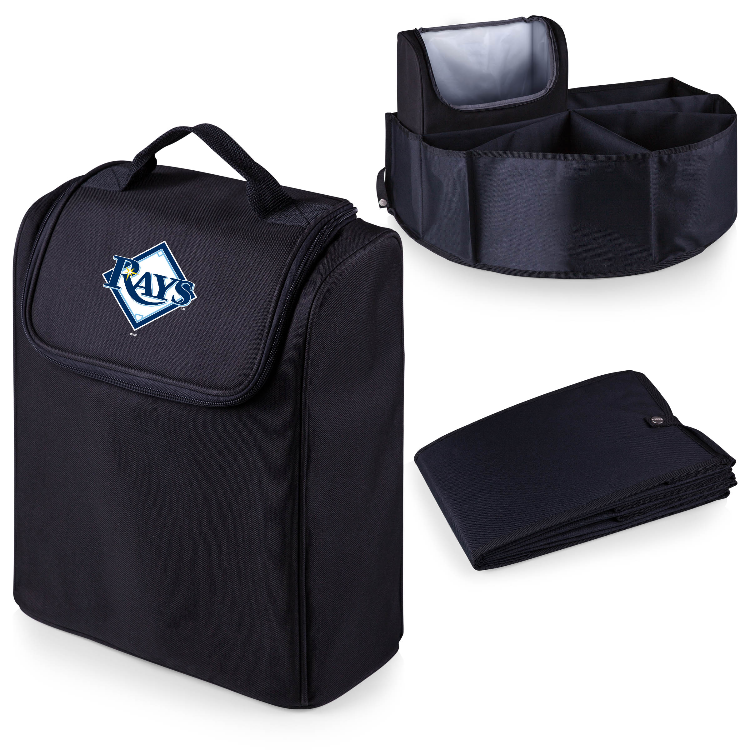 Tampa Bay Rays Trunk Boss Organizer with Cooler - Black - No Size