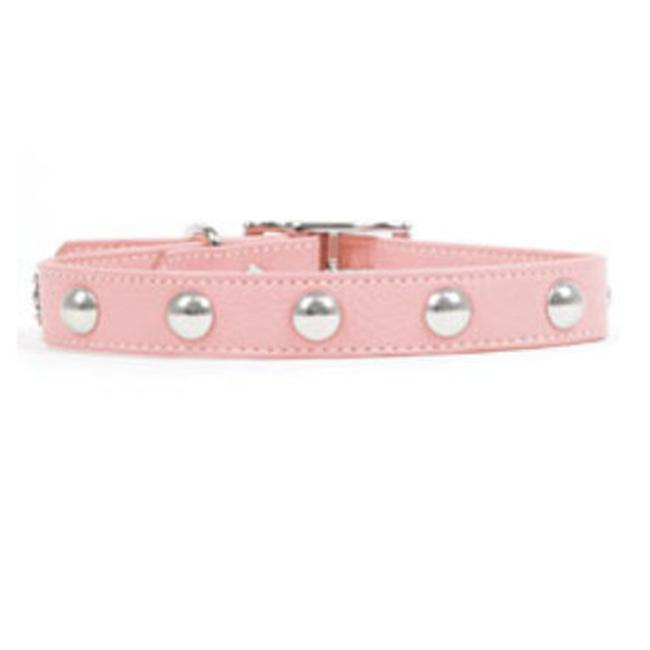 Rockinft Doggie Leather Collar with Domed Rivets