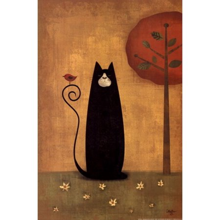 Cat Tails I Poster Print by Mollie B (12 x (Faerie Tails Cat)