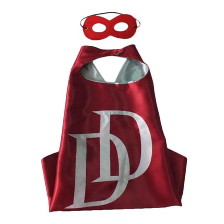 Marvel Comics Costume - Dare Devil Logo Cape and Mask with Gift Box by Superheroes - Double Dare Costume