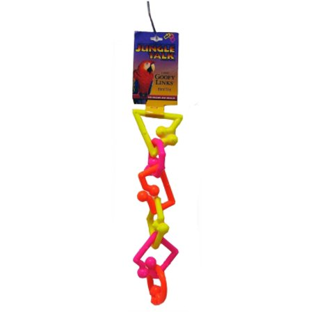 Jungle Talk Goofy Links Plastic Bird Toy (Neon Large) (Pack of 1)