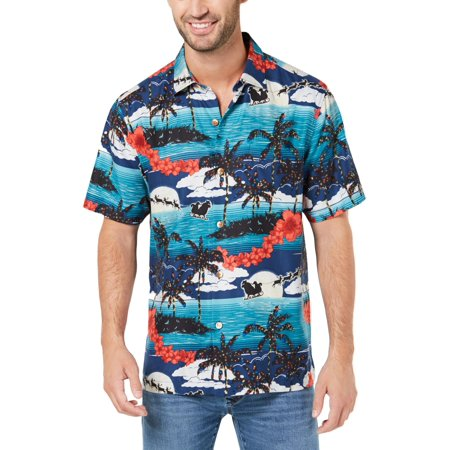 Tommy Bahama Mens Moon Light In Paradise Silk Printed Button-Down Shirt