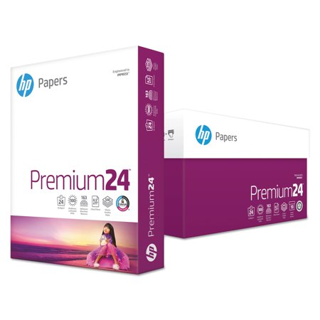 HP Papers Premium 24 Paper, 98 Bright, 24lb, 8-1/2 x 11, Ultra White, 500 Sheets/Ream