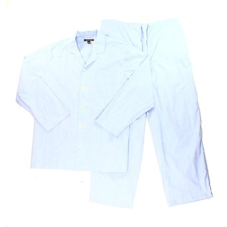Nordstrom New Light Blue Mens Size Xl Woven Textured Pajama Sets