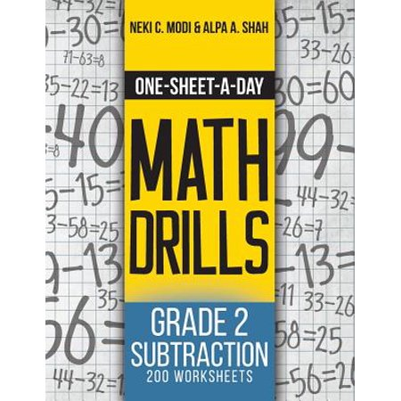 One-Sheet-A-Day Math Drills : Grade 2 Subtraction - 200 Worksheets (Book 4 of 24) (Halloween Worksheet Grade 2)