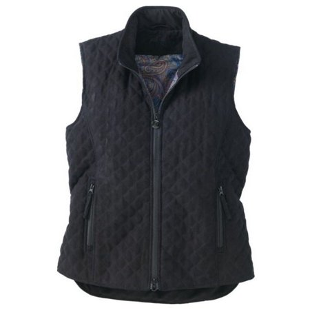 Suede Western Vest - Outback Trading Vest Womens Grand Prix Quilted Micro Suede Zipper 2958
